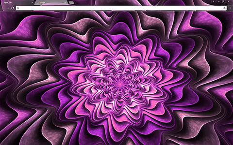 Fractal Purple Google Chrome Theme