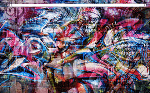 Graffiti Wall Google Chrome Theme
