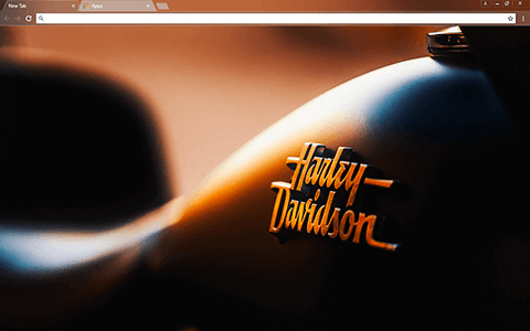 Harley Davidson Google Chrome Theme