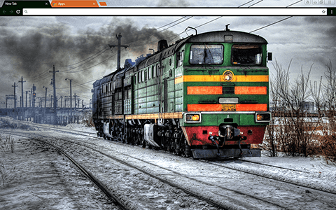 Locomotive Google Chrome Theme