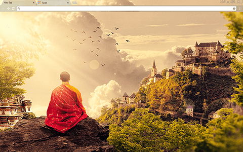 Meditation Google Chrome Theme