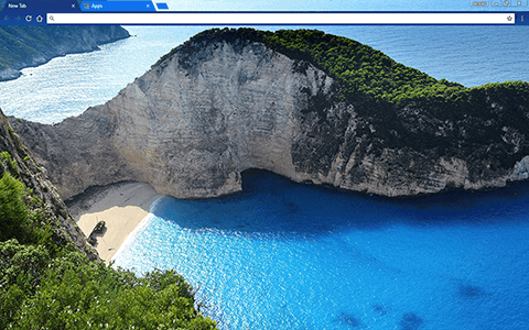 Navagio Beach Google Chrome Theme