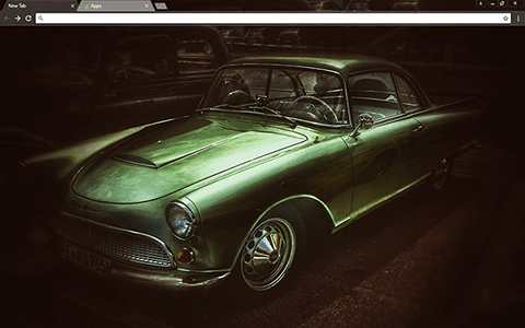 Old Timer Car Google Chrome Theme