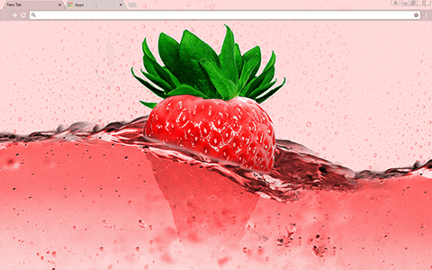 Pink Strawberry Google Chrome Theme