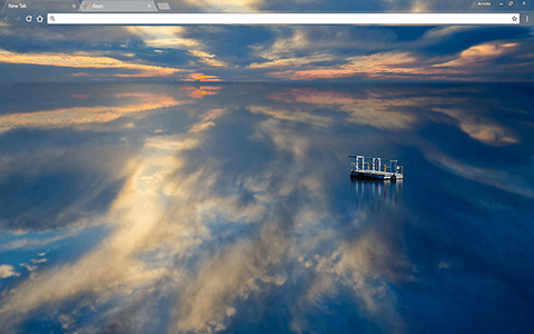 Reflective Water Google Chrome Theme