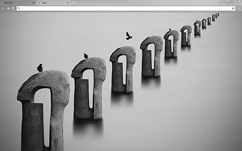 Sea Of Fog Google Chrome Theme