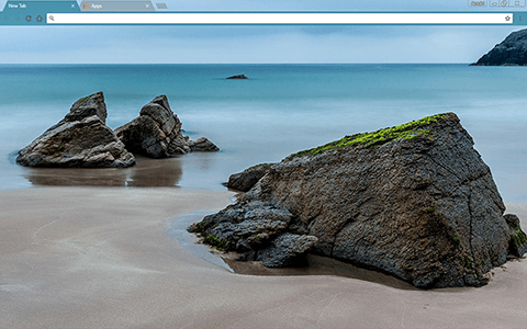 Sea Rocks Google Chrome Theme