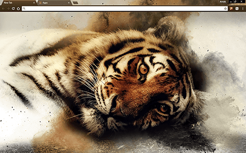 Sleepy Tiger Google Chrome Theme
