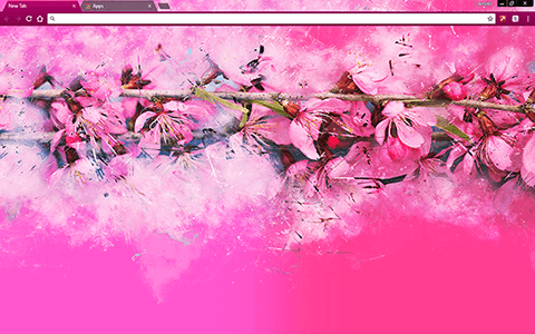 Spring Branches Google Chrome Theme