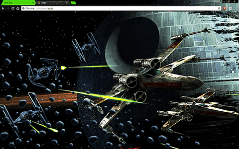 Free Star Wars Google Chrome Theme