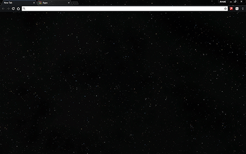 Space Starfield Google Chrome Theme
