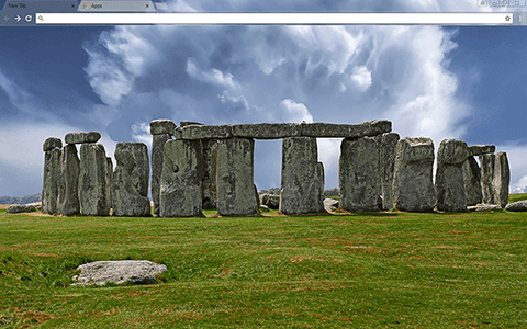 Stonehenge Google Chrome Theme