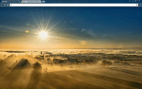 Sunny Valley Google Chrome Theme