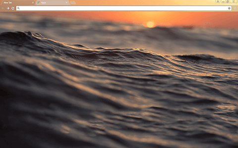 Sunset Waves Google Chrome Theme