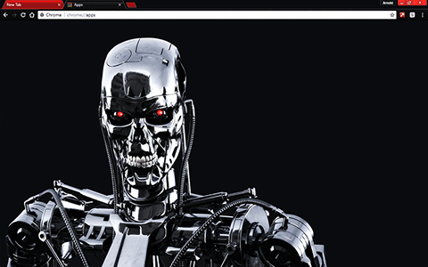 Free Terminator Google Chrome Theme