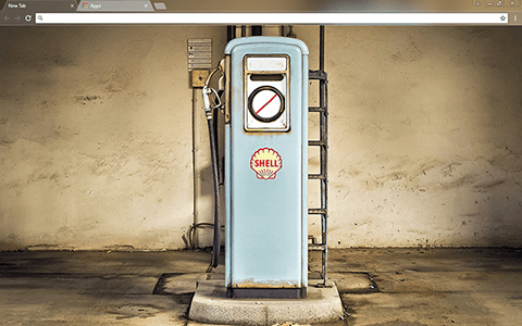 Vintage Gas Pump Google Chrome Theme