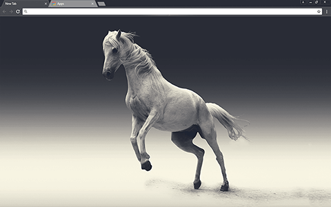 White Mare Google Chrome Theme
