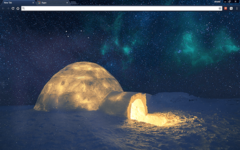 Wintry Igloo Google Chrome Theme
