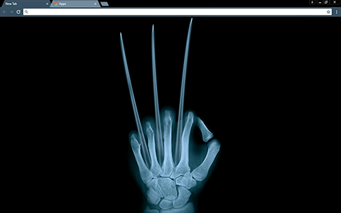Wolverine X-Ray Google Chrome Theme