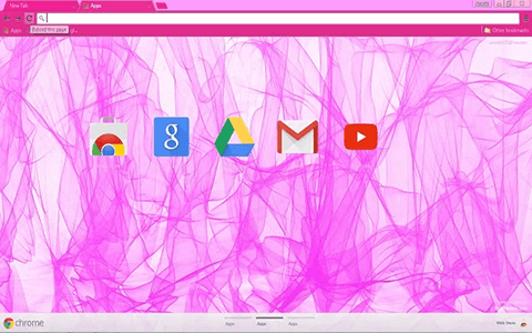 Abstract Pink Google Chrome Theme