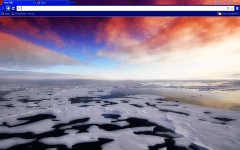 Arctic Sea Ice Google Chrome Theme