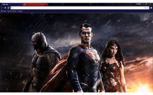 Batman vs Superman Google Chrome Theme