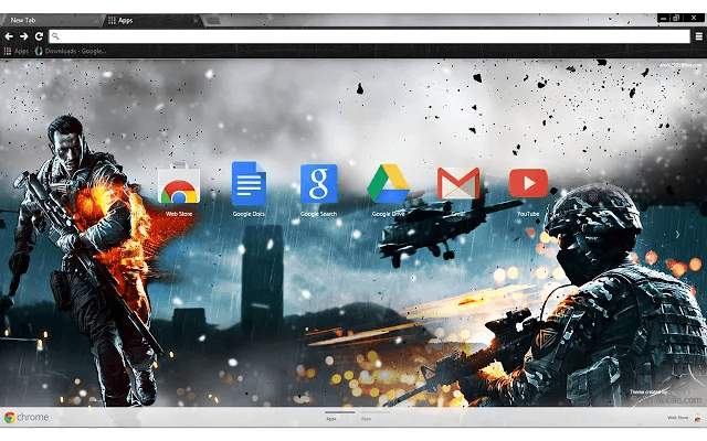 Battlefield 4 Google Chrome Theme