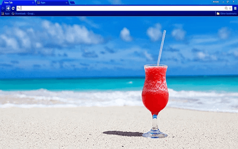 Beach Cocktail Google Chrome Theme