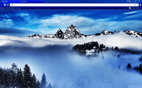 Blue Mountain Google Chrome Theme