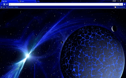 Blue Space Google Chrome Theme