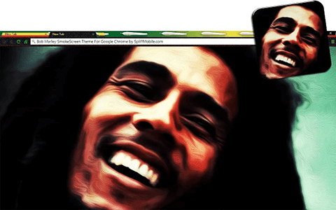Bob Marley SmokeScreen Google Chrome Theme