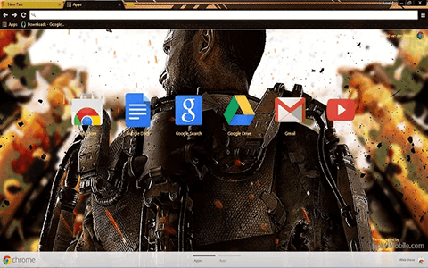 Call of Duty AW Google Chrome Theme