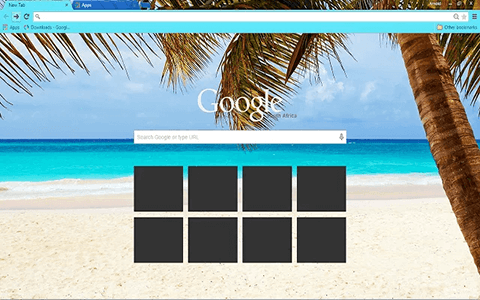 Caribbean Blue Google Chrome Theme