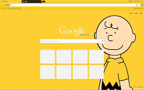 Charlie Brown Google Chrome Theme