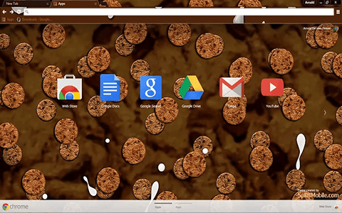 Free Cookies & Milk Google Chrome Theme