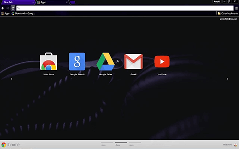 Free Dark DJ Google Chrome Theme