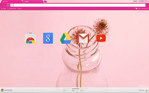Free Elegant Pink Google Chrome Theme