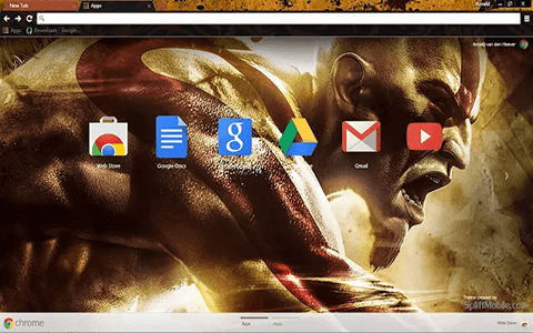 Free God of War Kratos Google Chrome Theme