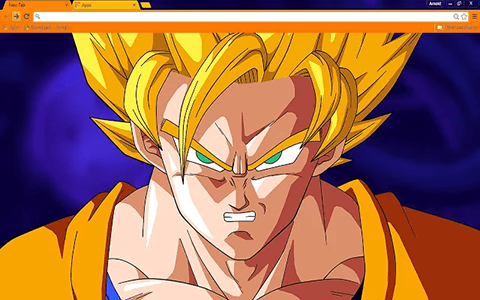 Free Goku Google Chrome Theme
