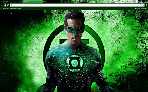 Free Green Lantern Google Chrome Theme