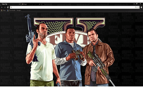 Free GTA 5 Google Chrome Theme