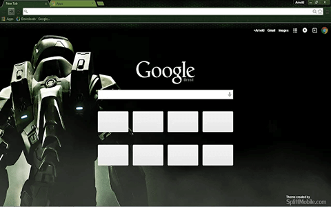 Free Halo HD Google Chrome Theme