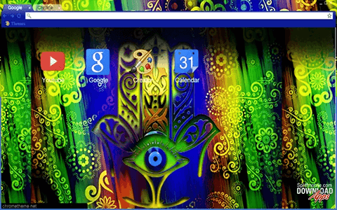 Free Hamsa HD Google Chrome Theme