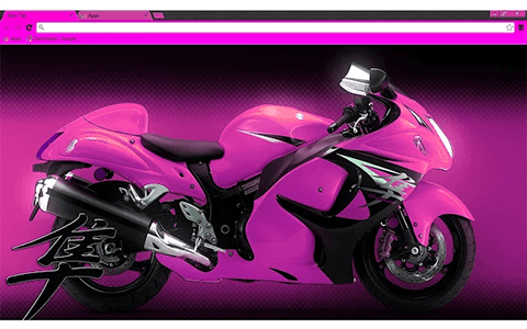 Free Hayabusa Pink Google Chrome Theme