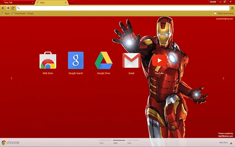 Free Iron Man Google Chrome Theme