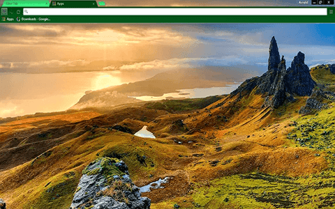 Free Isle of Skye Scotland Google Chrome Theme