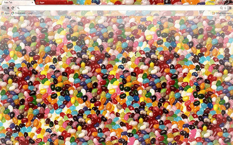 Free Jelly Beans Google Chrome Theme