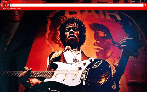 Free Jimi Hendrix Google Chrome Theme