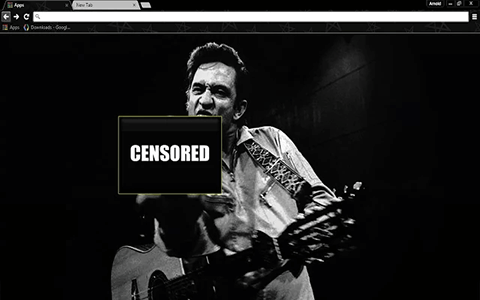 Free Johnny Cash Google Chrome Theme