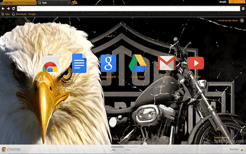 Free Legendary Harley Davidson Google Chrome Theme